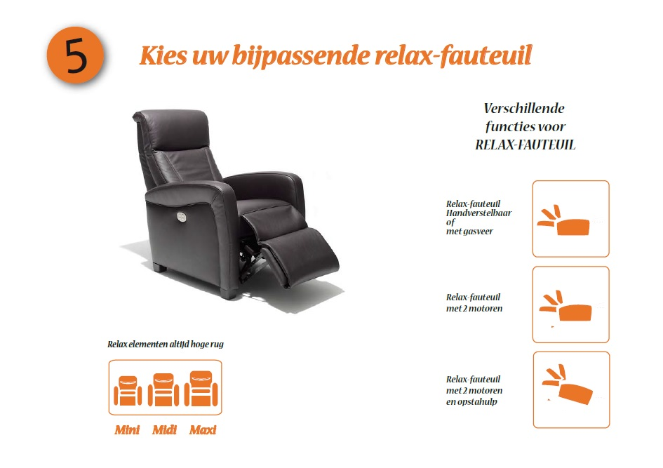 Variance stappenplan relaxfauteuil - datzitgoed.com